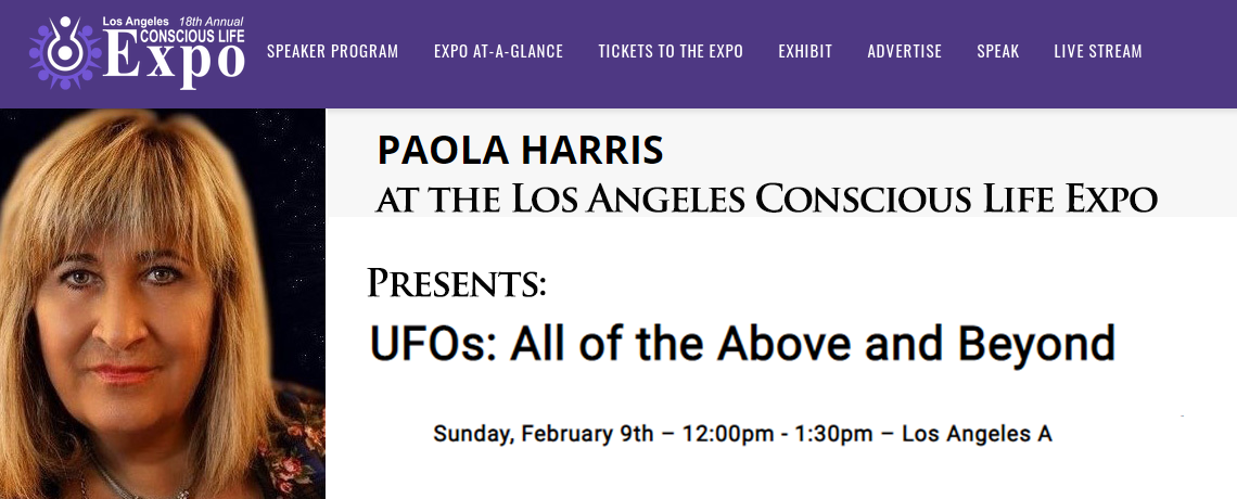 Paola Harris at the Los Angeles 18th Conscious Life Expo – February 2020